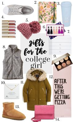 Holiday Gift Ideas // Gifts for the college student // Ft. Tory Burch, UGG Boots, Patagonia, Adidas ideas for college students gifts for college girls - Glitter & Gingham Student Christmas Gifts, College Student Gifts, Christmas Gifts For Girls, College Students, Gifts For College Girls, College Outfits, Simple Christmas, Christmas Presents, White Christmas