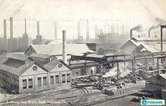 Bethlehem postcard post card - Bethlehem Steel Works, South Bethlehem, PA