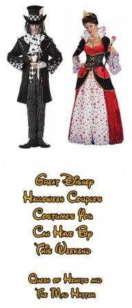 Great Disney Halloween Couples Costumes You Can Have By This Weekend – Queen of Hearts and the Mad Hatter