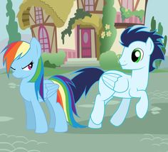 MLP: Soarin and Rainbow Dash by Rulette