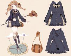 【To Alice】 C319- 扫把魔法師連衣裙外套~-淘宝网