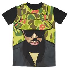 Chris Brown x Bape 3D Sublimation Print T-shirt - OGV Shop