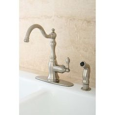 Kingston Brass American Classic Gourmetier Single Handle Kitchen Faucet Finish: