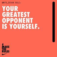 Self motivated. #inspiration #motivation #nike