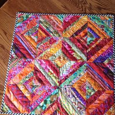 Summer citrus table mat by anniekatesquilts on Etsy