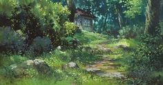 paradis express: from movie, the Secret World of Arrietty ( studio ghibli). I want a garden like this make believe world