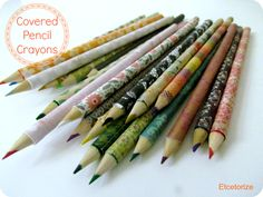 Mod Podge Pencil Crayons