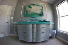 Refinished 1950s Mirror and Dresser