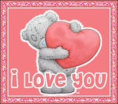 "❤Tatty Teddy Bear ~ ""I LOVE you""❤"