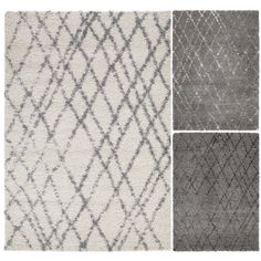 """Beni Ourain Inspired Contemporary Moroccan Trellis Design Plush Shaggy Area Rug (5'0""""X7'0"""") - Overstock™ Shopping - Great Deals on 5x8 - 6x9 Rugs"""