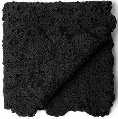 Black Cotton Crochet Bedspread