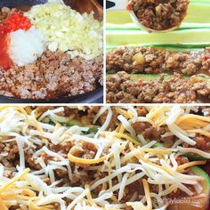 For a summer spin on taco night, try these zucchini stuffed with ground turkey, seasoned with cumin and spiced and topped with a blend of Mexican cheese – cheesy goodness!!     I actually got the inspiration for this dish from a comment I read on my sausage stuffed zucchini boats, I love when you guys give me new ideas! They turned out so good, and will be a part of my summer rotation.   Taco Stuffed Zucchini Boats Skinnytaste.com Servings: 4 • Size: 2 halves • Points +: 7 pts • Smart…