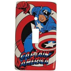 The Captain America Light Switch Plate Will Add Hero Quality to Any Room trendhunter.com