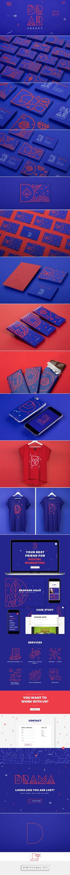 DRAP.agency Branding on Behance - created via https://pinthemall.net