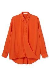 Naima Shirt - Orange Reddish Dark - Sale - Weekday