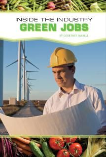 """Green Jobs, Courtney Farrell. """"This title examines the positions of green architect, organic farmer, professional conservationist, and alternative energy expert.  The duties and responsibilities of the professional in each of these occupations are examined.  Through profiles of Derek Trost, Dave Mitchell, Irene Jones, and Jerrolynn Kawamoto, readers will get the sense of the green professional's  life.  Readers will learn about daily life in the emerging green industry, average salaries, and…"""