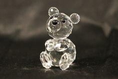 Swarovski RETIRED Mini Bear Crystal Figurine  by TheHavenFinds