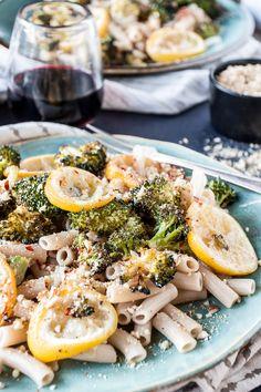 Roasted Broccoli and Lemon Pasta