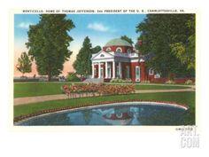 Monticello, Charlottesville, Virginia Premium Poster at Art.com