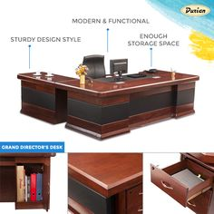 Make this sophisticated and decorous desk a part of your office space!