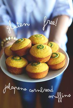 Gluten Free Jalapeño Cornbread Muffins http://minimalistbaker.com/gluten-free-jalapeno-cornbread-muffins/