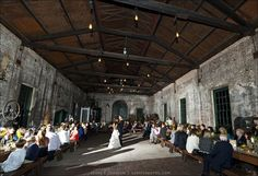 Georgia Railroad Museum (Roundhouse) as a wedding venue is so rustic and beautiful at the same time! Savannah, GA