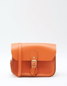 Immagine 1 di The Cambridge Satchel Company - Borsetta da viaggio arancione in pelle