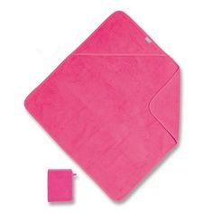 oze badcape + washandje van het merk Coolay - Bemini in badstof materiaal De badcape en washandje zullen de zachtheid en het comfort van de baby tijdens zijn badje bieden.