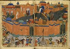 In the Baghdad was a prominent and rich ancient city with a high literacy rate. The House of Wisdom was a huge library in Baghdad and major intellectual center where you could find books and manuscripts about science, art and Greek literature. Bagdad, Genghis Khan, House Of Wisdom, Abbasid Caliphate, Musa, War Machine, Middle Ages, Middle East, Ancient History