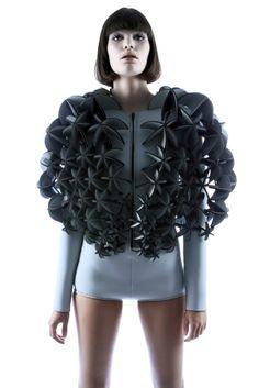 Laser cut Neoprene Fashion  Berlin-based fashion student Alba Prat.