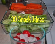 Darcie's Dishes: 30 Snack Ideas - All snacks are sugar free and Trim Healthy Mama approved.