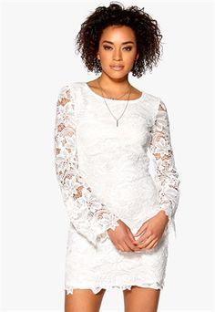 DRY LAKE Fleur Lace Dress Offwhite