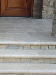 stone in between steps for front porch