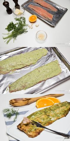 This herbed salmon is a perfect, fancy and a healthy dinner option, in under 30 minutes. Just apply herbed butter, bake and your dinner is ready. Yep, that's this easy.-us