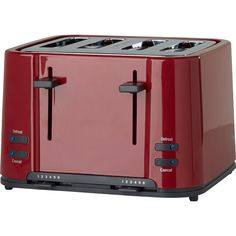 Red Prestige 56773 Stainless Steel 2 Slice Toaster With Removable Crumb Tray