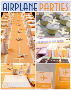 Airplanes make quite a fun birthday theme for little ones! This party was designed by the well known sweets designer Amy Atlas for her son's birthday. Planes Birthday, Planes Party, Airplane Party, Boy Birthday Parties, Birthday Fun, Birthday Ideas, Birthday Sweets, Childrens Party, Party Planning