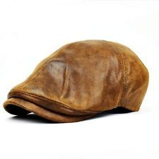 leather baker boy hat