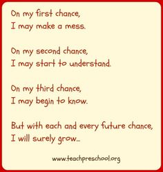 """Chances"" by Deborah J. Stewart, M.Ed of Teach Preschool"