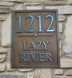 Vertical Address Plaque in Iron with an Aged Rust by OldGoatSigns, $140.00