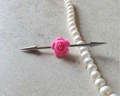 Pink Rose industriële Barbell 14ga lichaam door Yourjewelryhut