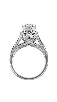 Edwardian Crown Halo Diamond Engagement Ring