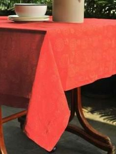 Gorgeous red batik printed table cloth