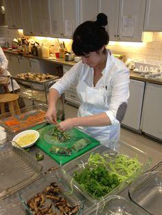 Leils is gettin' her raw food on in the RW Kitchen with springrolls! #rawfood #rawvolution