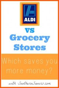 If you think you're saving the most money at Aldi, you may want to check out this comparison.