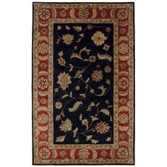 Dynamic Rugs Charisma 1401-090 Black-Red Area Rug