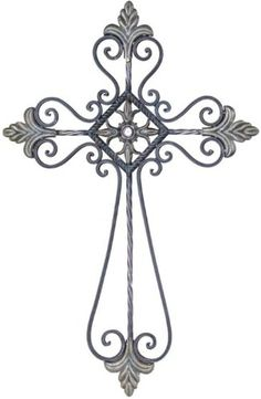 Grey Decorative Religious Cross Wall Decoration with Gem Centerpiece Wooden Crosses, Crosses Decor, Wall Crosses, Old Rugged Cross, Cross Wall Decor, Cross Tattoo Designs, Sign Of The Cross, Cross Art, Religious Cross