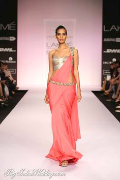 Gorgeous pink stitched saree with silver details by Jyotsna Tiwari