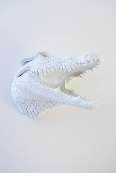 The Ralph  White Resin Alligator Head by WhiteFauxTaxidermy, $129.99
