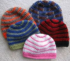 Better Late Than Never BeaniesThis pattern is available as a free download... Download Pattern: Better Late Than Never Beanies