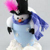 Clay Pot Snowman | FaveCrafts.com